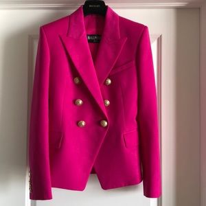 Balmain-Paris fuchsia blazer - Authentic